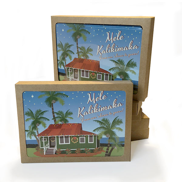 Home in Hawai`i Holiday Card Set of 10