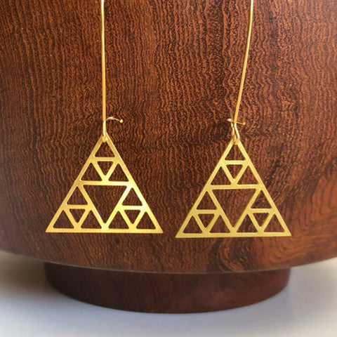 Mauna Kea Brass Earrings