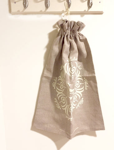Linen Laundry Bag - Aloha Bird