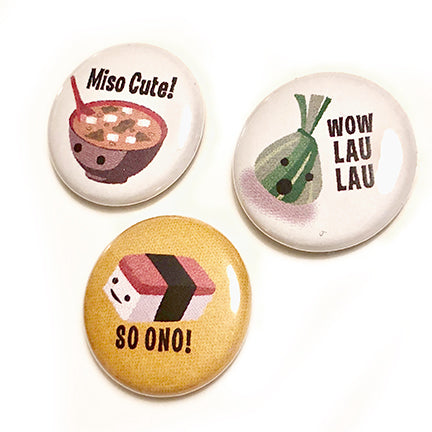 Set of 3 Buttons - Various