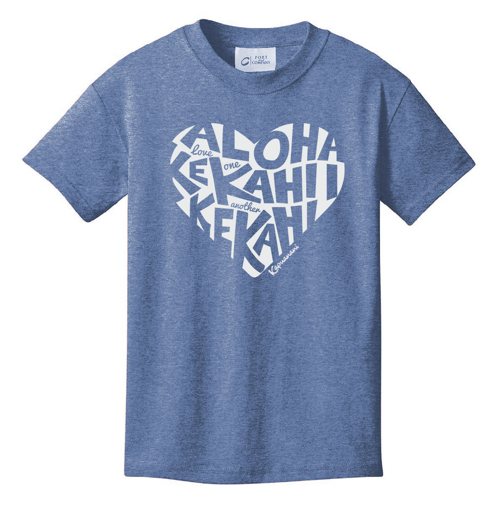 Love One Another Youth T-shirt - Heather Navy
