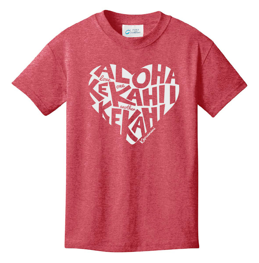 Love One Another Youth T-shirt - Heather Red