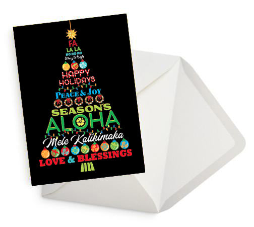 Bright Hawaiian Holiday Card Set of 10