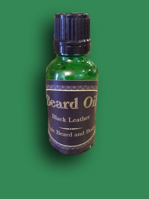 Black Leather Beard Oil - Epic Beard and Body