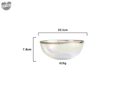 Dazzling Glass Food Bowl