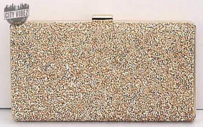 Lustrous Evening Diamond Sequin Clutch Bag