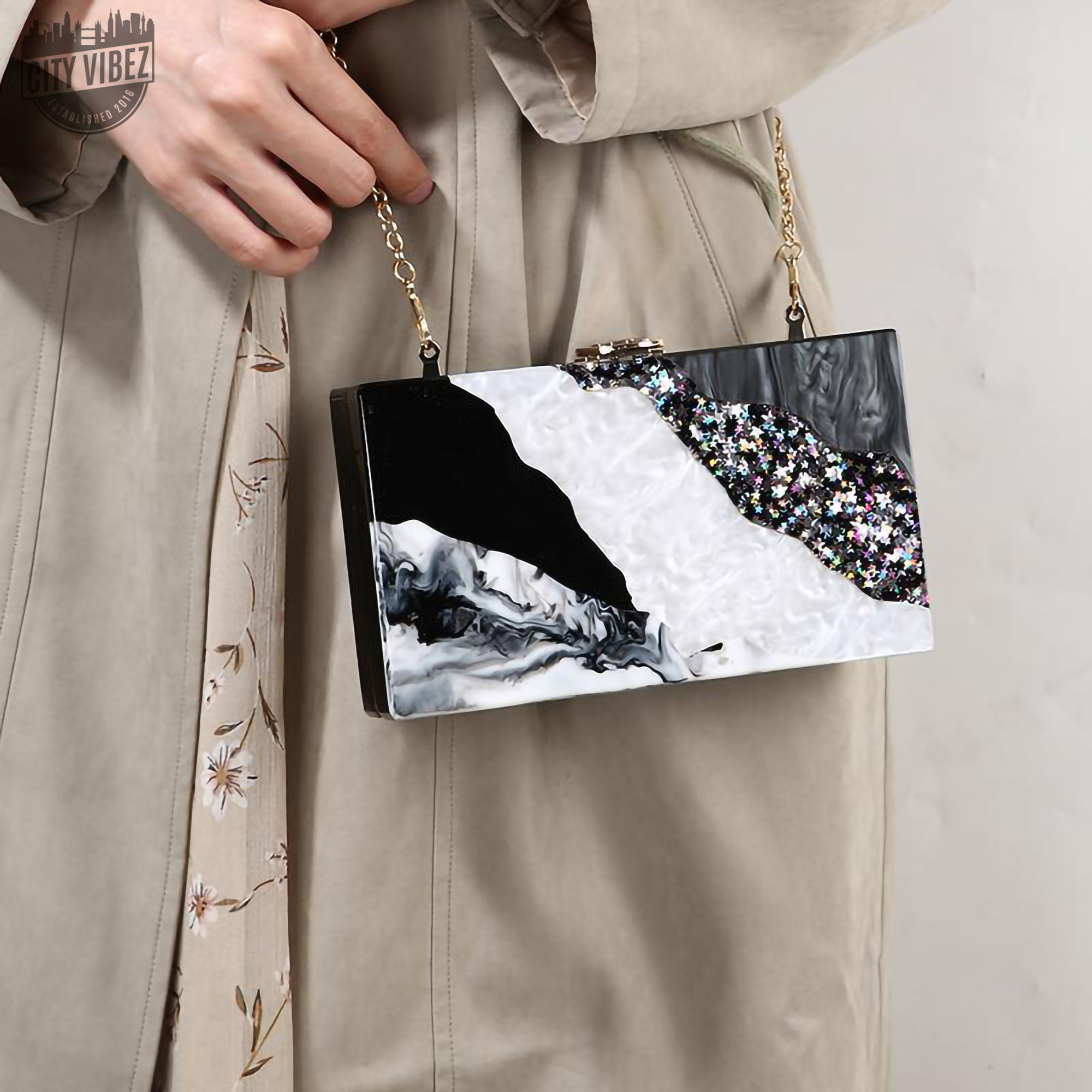 Marmoreal Evening Clutch Bag