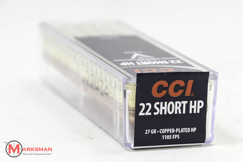 CCI .22 Short, 27 Gr. HP