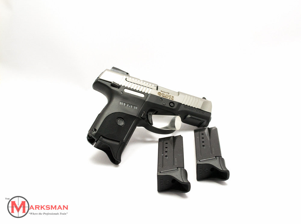 Ruger Stainless SR9c, 9mm, with three magazines