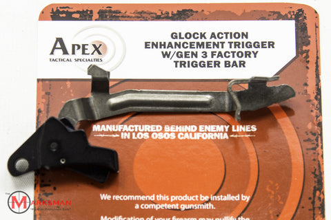 Apex Glock Action Enhancement Trigger with Gen 3 Factory Trigger Bar