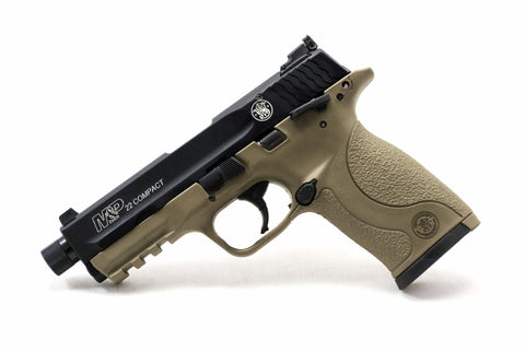 S&W M&P 22 Compact Suppressor Ready, .22 long rifle, Flat Dark Earth