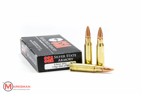 Silver State Armory 6.8mm SPC, 115 gr. OTM