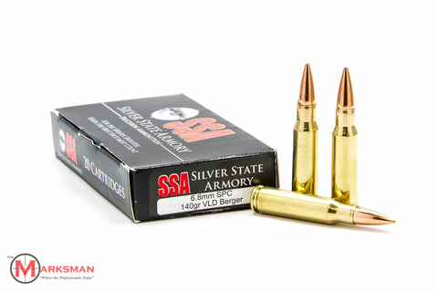 Silver State Armory 6.8mm SPC, 140 gr. VLD Berger