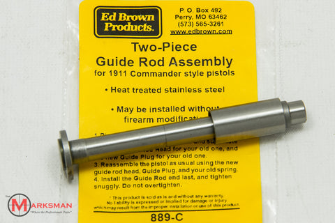 Ed Brown 1911 Two-Piece Guide Rod Assembly, Stainless Steel, Commander