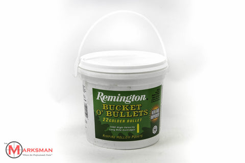 Remington Bucket O' Bullets .22 lr, 36 Gr. HP, 1400 rounds