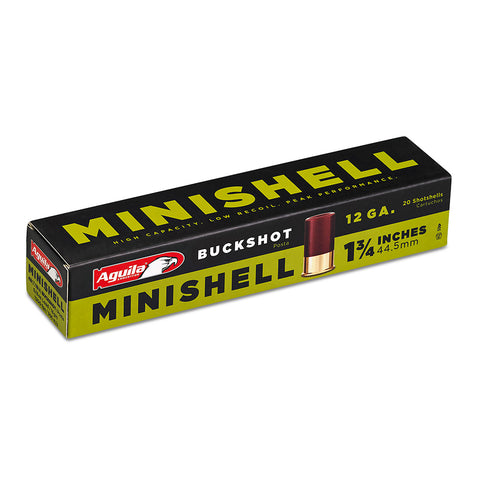 "Aguila 12 Gauge Minishells, #4/#1 Buckshot, 1 3/4"", Online Deal Only"