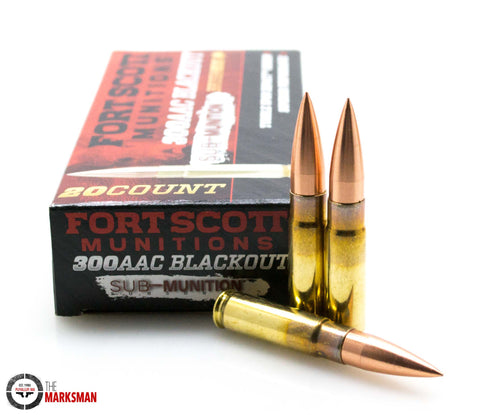 Fort Scott Munitions Brush Hog .300 AAC Blackout, 190 Gr. SCS