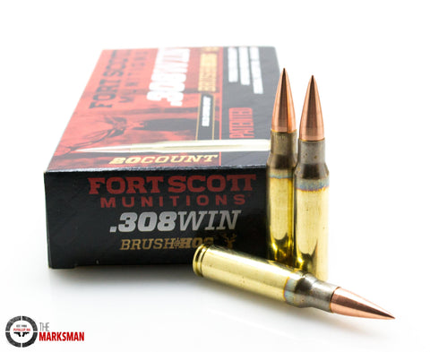 Fort Scott Munitions Brush Hog .308 Winchester, 168 Gr. SCS