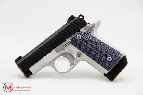 Kimber Micro Carry Advocate, .380 ACP, Purple/Black G10 Grips