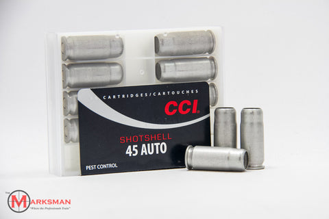 CCI .45 ACP Shotshells, 1/3 oz. #9 shot