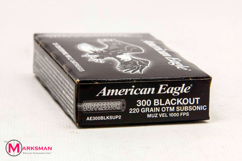 American Eagle .300 Blackout, 220 Gr. OTM, Subsonic