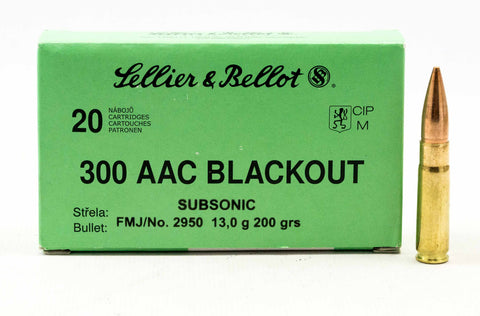 Sellier and Bellot .300 AAC Blackout, 200 Gr. FMJ