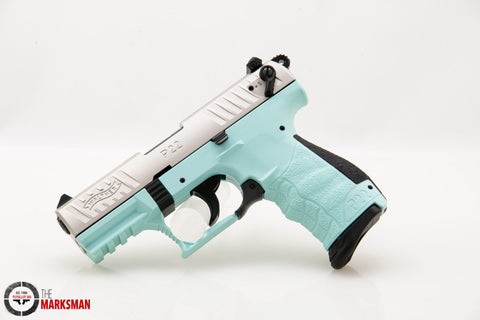 Walther Nickel P22, .22 lr, Angel Blue Frame