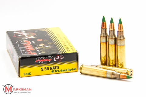 PMC X-TAC 5.56mm NATO, 62 gr. Green Tip