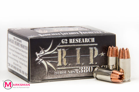 G2 Research R.I.P. .380 ACP, 62 Gr. Copper HP