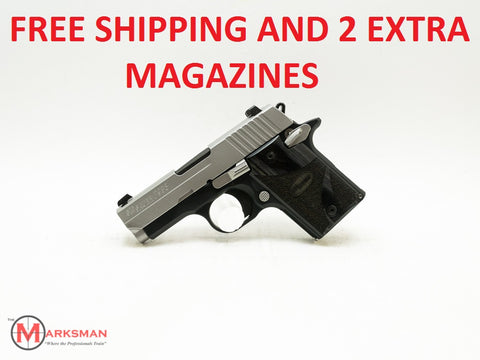 Sig Sauer P938 Blackwood, 9mm, Free Shipping and Two Extra Magazines