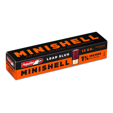 "Aguila 12 Gauge Minishells, 1 3/4"", 7/8 ounce lead slug, Online Deal Only"