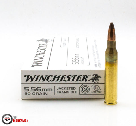 Winchester 5.56mm NATO, 50 Gr. Jacketed Frangible