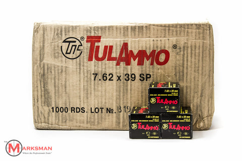 Tula 7.62 x 39mm, 124 gr SP, Case of 1,000 rounds