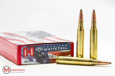 Hornady American Whitetail .25-06 Remington, 117 Gr. Interlock