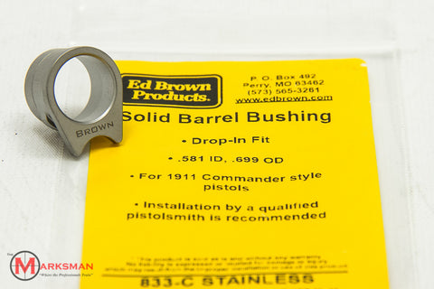 Ed Brown 1911 Commander Solid Barrel Bushing, Stainless