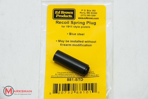 Ed Brown 1911 Recoil Spring Plug, Blued