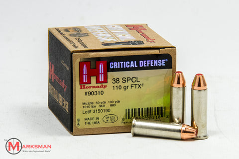 Hornady Critical Defense .38 Special, 110 gr. FTX