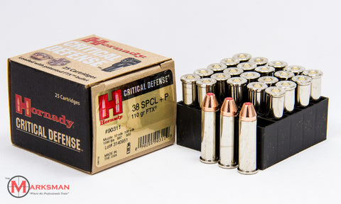 Hornady Critical Defense .38 Special +P, 110 gr. FTX