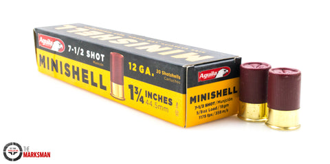 Aguila 12 Gauge Minishells, 7 1/2 Shot, 1 3/4""