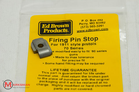 Ed Brown 1911 Firing Pin Stop, Stainless