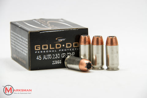 Speer Gold Dot .45 ACP, 230 Gr. BJHP, Online Deal Only, Normally $28.99