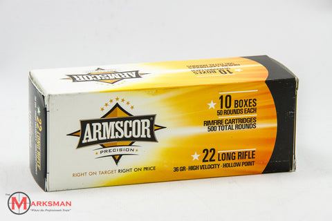 Armscor .22 lr, 36 Gr. HP