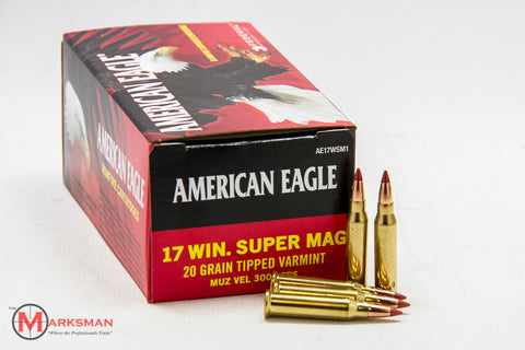 American Eagle .17 Win. Super Magnum, 20 Gr. Varmint Tipped
