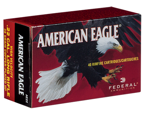 American Eagle .22 lr, 38 gr. CPHP, Online Deal Only