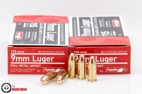 Aguila 9mm Luger 115 gr FMJ, Box of 50