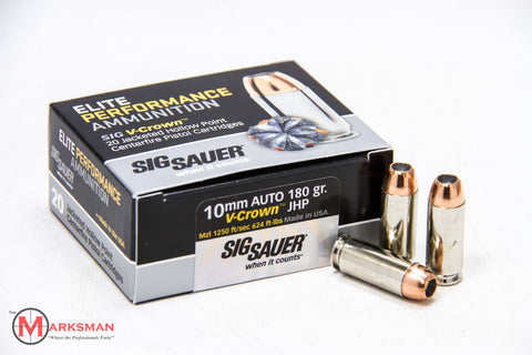 Sig Sauer Elite Performance 10mm, 180 Gr. V-Crown JHP