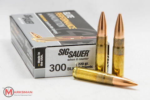 Sig Sauer Elite Performance .300 AAC Blackout, 220 gr. Subsonic OTM