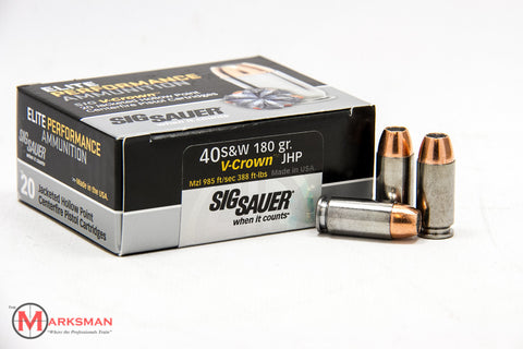 Sig Sauer Elite Performance .40 S&W, 180 Gr. JHP V-Crown