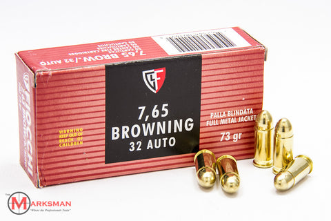 Fiocchi .32 ACP (7.65 Browning), 73 gr. FMJ