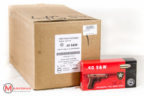 Geco .40 S&W, 180 gr. FN, Case of 1000 rounds
